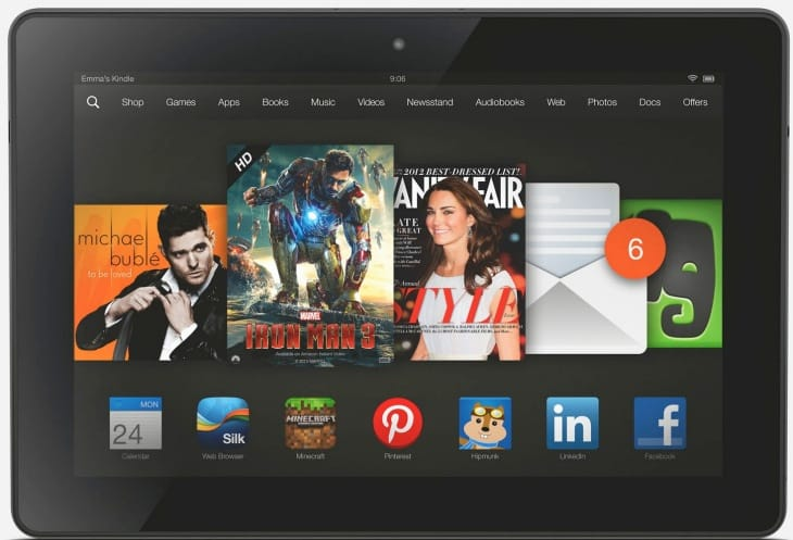Kindle Fire HDX vs. iPad Air by features