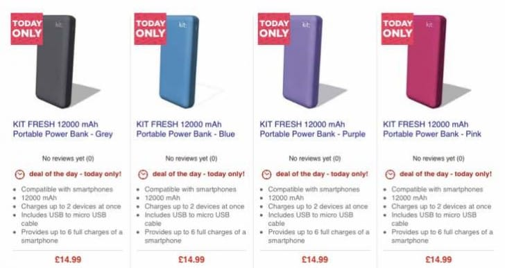 Kit Fresh 12000 mAh Power Bank – Amazon competes with Currys price