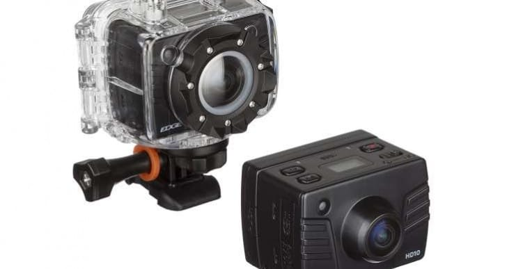 Kitvision Edge HD10 action camera review warning with casing