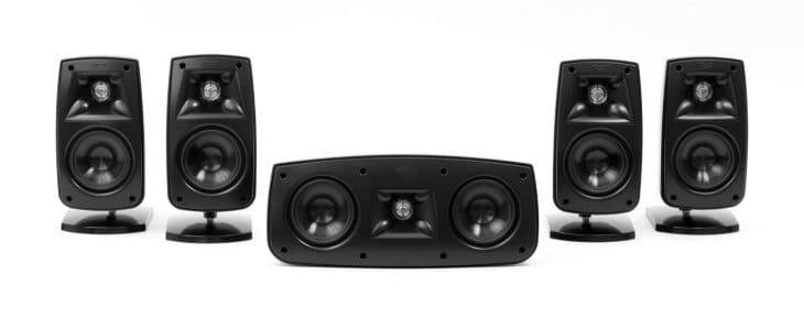 The Klipsch QUNTETV IV is a dynamic five-channel surround sound package