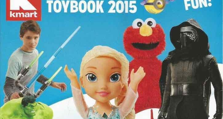Kmart Toy Book sale starts October 25, 2015