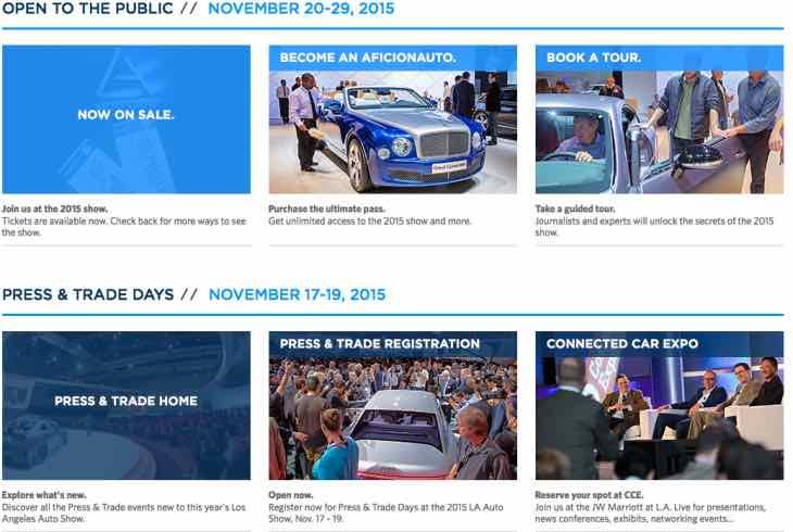 LA Auto Show 2015 hours