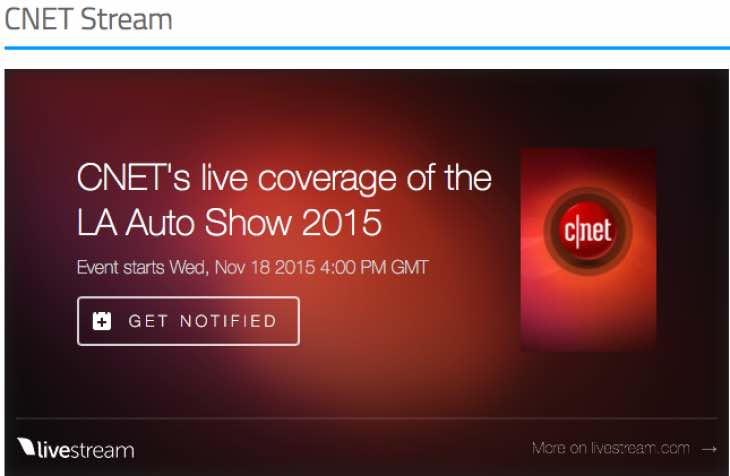 LA Auto Show live stream