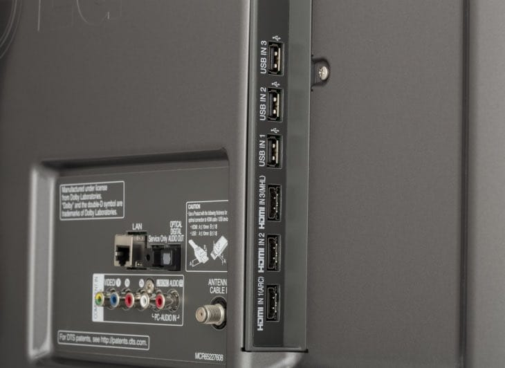 LG 50-inch 50LB6300 connections