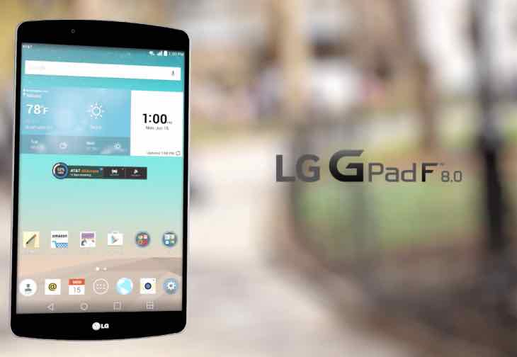 New LG G Pad F 8.0 with AT&T price plans – Product Reviews Net