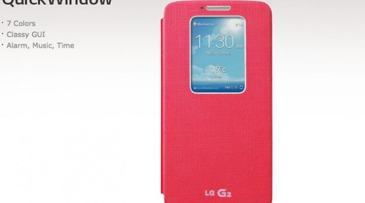 LG G2 QuickWindow cases up close