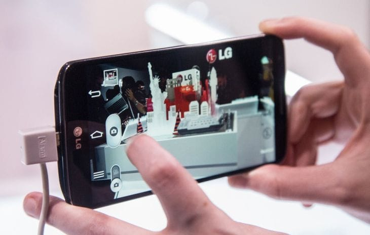 LG G2 camera specs visually demoed