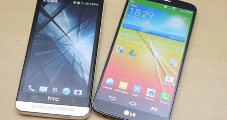LG G2 vs. HTC One in 8 minutes