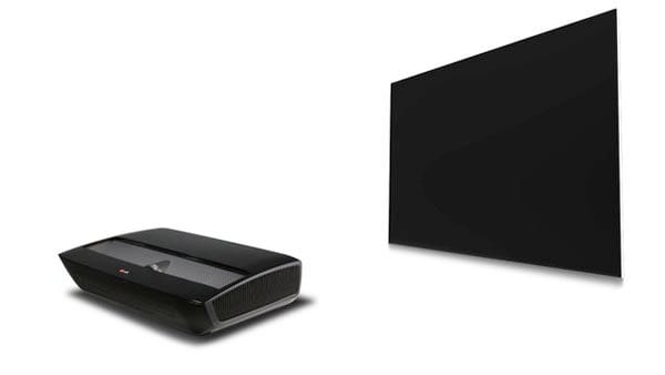 """LG """"HECTO"""" Laser TV demonstration to show projector capabilities"""