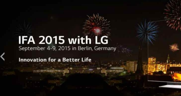 LG IFA Berlin 2015 live press conference for new TV models