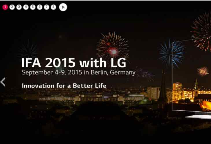LG IFA Berlin 2015 live press conference