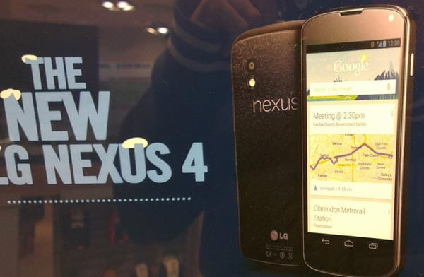 LG Nexus 4 price, specs in UK window
