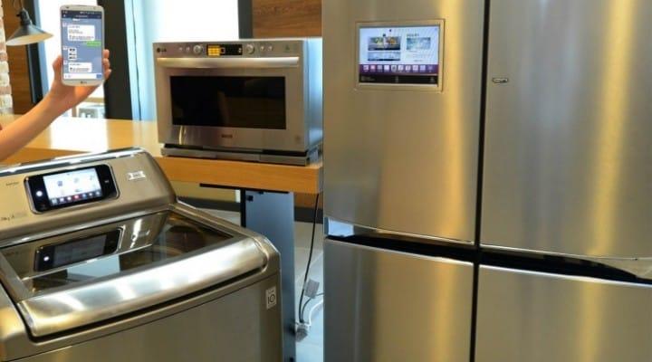 LG Smart refrigerator, oven, and washing machine