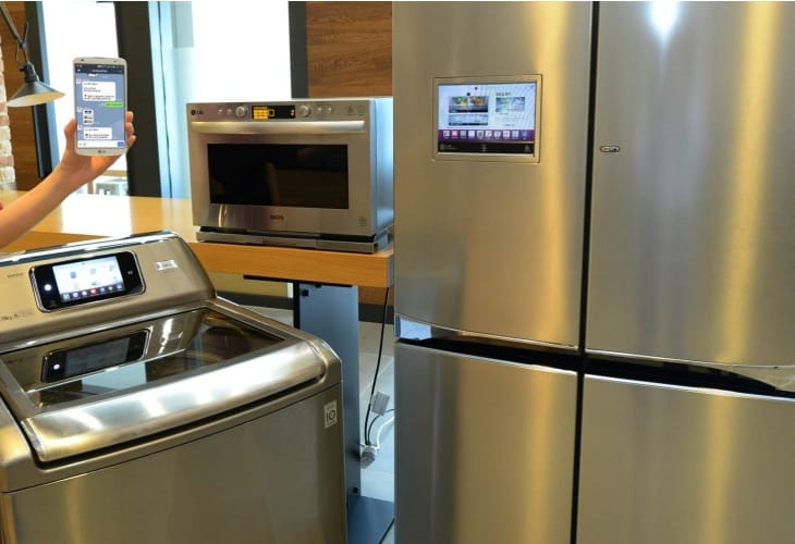 LG Smart refrigerator, oven, and washing machine