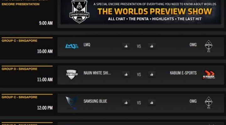 LOL World Championship 2014 live stream on Twitch