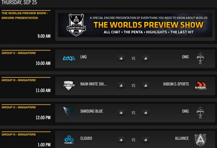 LOL World Championship 2014 live stream on Twitch