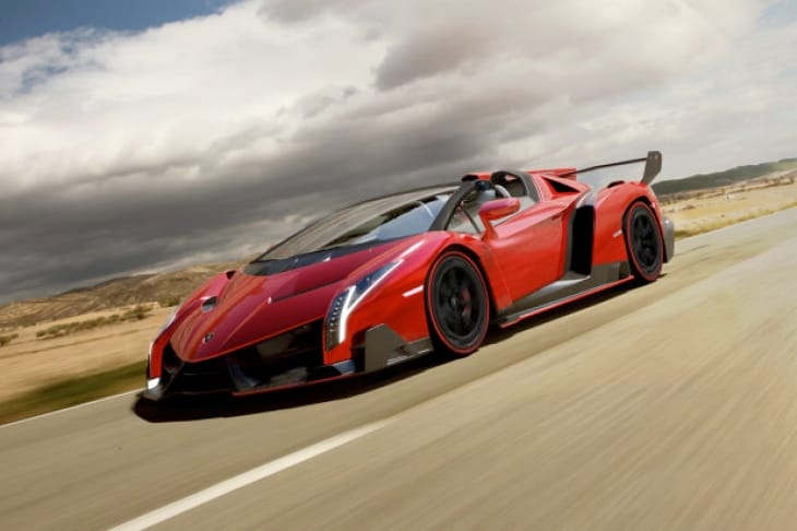 Lamborghini Veneno Roadster offers increased fresh air
