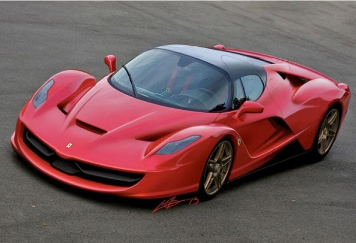 Latest Ferrari Enzo replacement render fits parameters