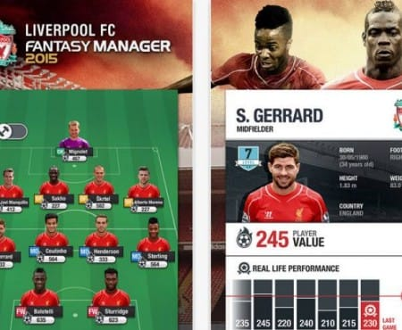 Your own Liverpool FC results with manager app