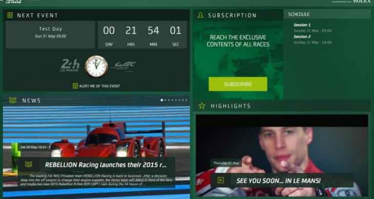 Le Mans 2015 app for live timing, winners update