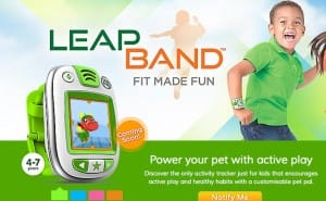 Kids fitness tracked with games on LeapBand