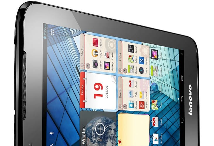 The Lenovo IdeaTab A1000L tablet comes with what you would expect for its price