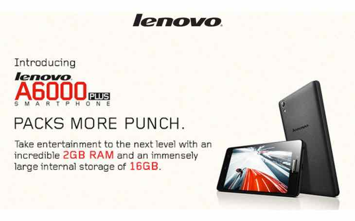 Lenovo A6000 Plus sale