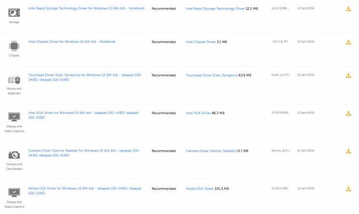 Lenovo April system update for 100-14IBD laptop