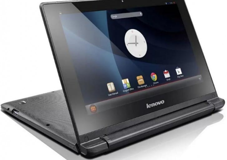 Lenovo IdeaPad A10 Android tablet with keyboard