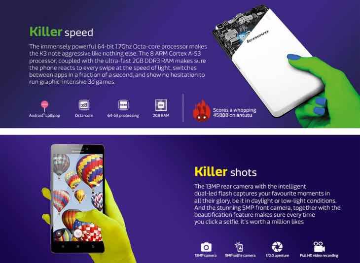 Lenovo K3 Note flash sales