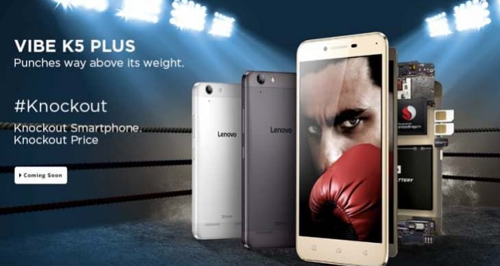 Lenovo Vibe K5 Plus registrations not needed in India