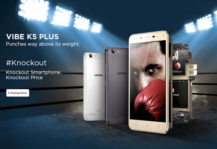 Lenovo Vibe K5 Plus registrations
