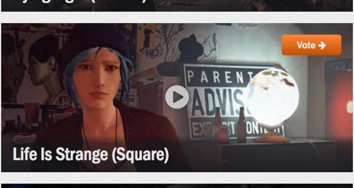 Life is Strange requests 2015 Golden Joystick Awards vote