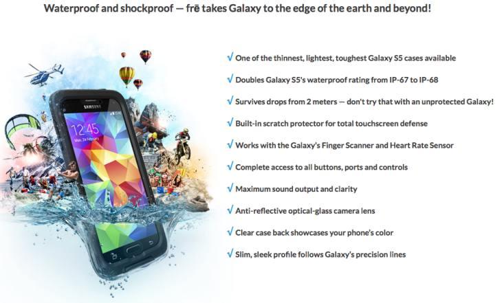 LifeProof Fre Galaxy S5 case
