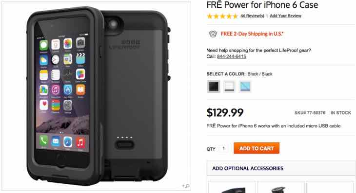 Lifeproof Fre Power for iPhone 6 price