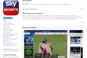 Live cricket score update with Sky Sports app