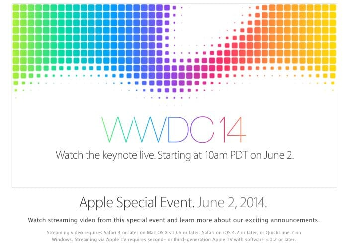 Live WWDC 2014 video stream, not just Apple TV