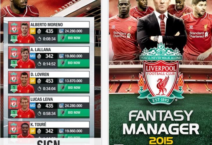 Liverpoll FC Fantasy Mamanger 2015 app
