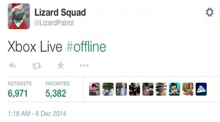 Xbox Live taken down by Lizard Squad to entertain