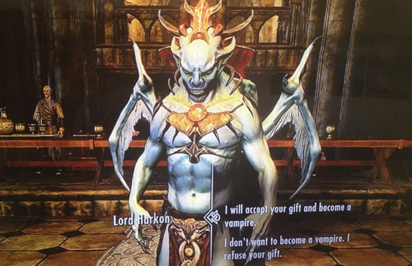 Skyrim Dawnguard: Lord Harkon's vampire gift