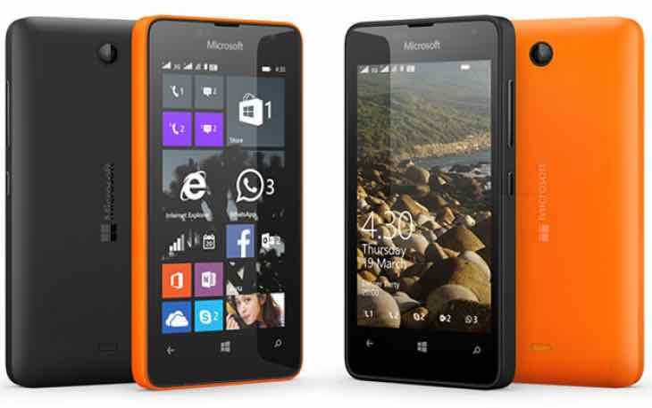 Lumia 430 with Windows 10 Mobile