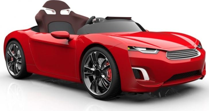 Luxury electric car for children, reasonable price questioned