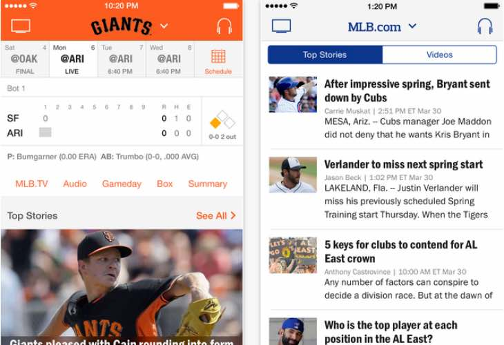 Apple Watch for MLB 2015 scores and standings