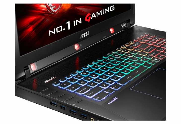 MSI GT72S Tobii laptop