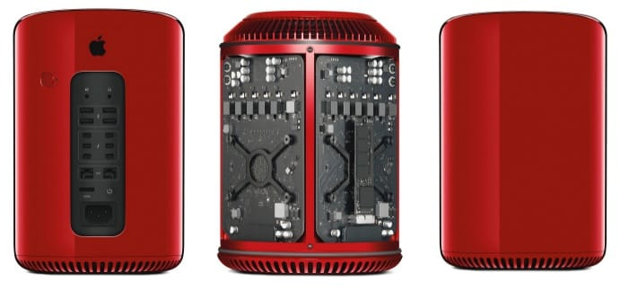 All-new Mac Pro in red for chairty