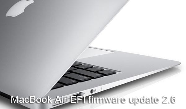 MacBook Air EFI firmware update 2.6, no problems so far