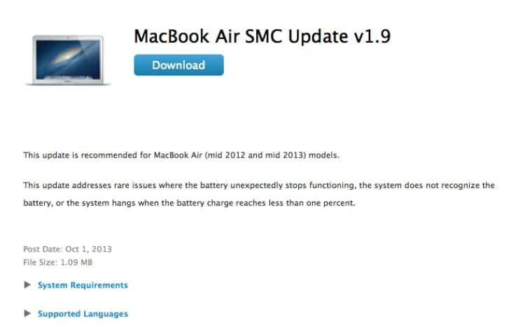 New update for MacBook Air and MacBook Pro with Retina