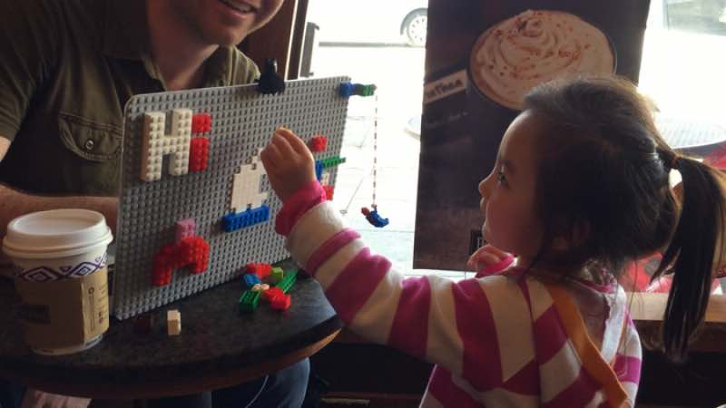 MacBook case with LEGO Bricks