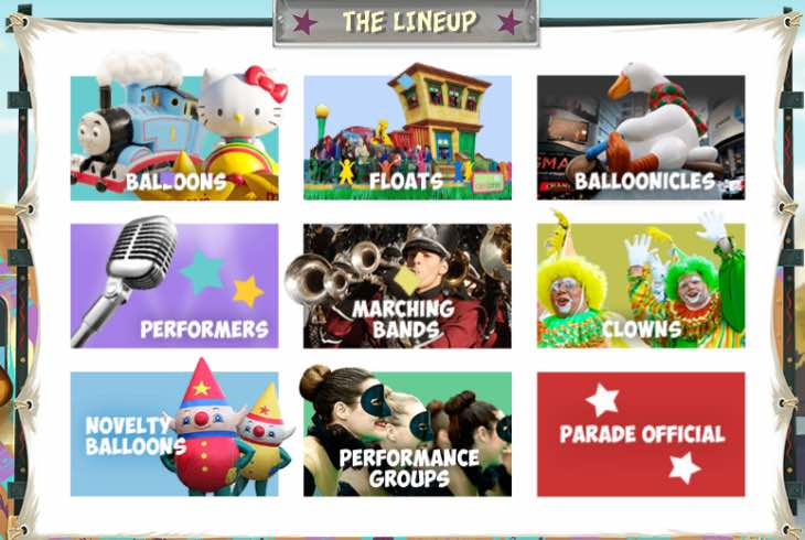 Macy's Thanksgiving Day Parade lineup