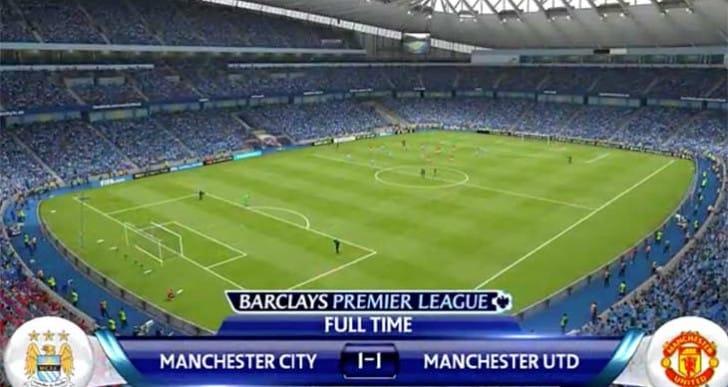 Man City Fernando Vs Man Utd Rooney prediction in FIFA 15